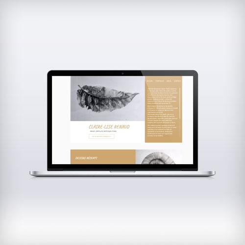 Ordinateur portable présentant la page d'accueil du book